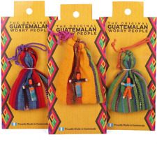 Worry Dolls in Bag 6 Handmade Unique People