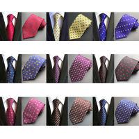 Men High Quality Flowers Jacquard 8cm Necktie Silk Wedding Party Tie HZBWT0026