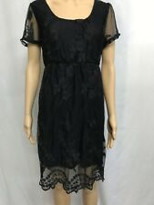 Dotti Black Lace Dress Size L