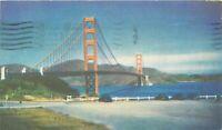 DB Postcard CA K224 Cancel 1939 Golden Gate Bridge San Francisco Union Oil