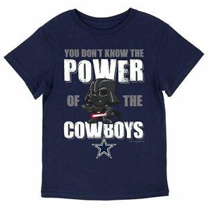 Dallas Cowboys Youth Kids Star Wars Darth Vader Power T-Shirt - Navy
