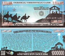 Lot of 25 Nativity Million Dollar Bill Funny Money Gospel Tract Novelty Notes