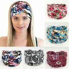 Boho Wide Stretch Women Headband Headwrap Turban Headwear Floral Hair Band