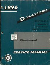 1996 Cadillac Fleetwood Service manual - D Platform