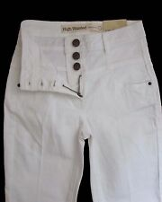 New Womens White High Waisted NEXT Jeans Size 6 Regular Leg 30 LABEL FAULT
