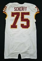 #75 Brandon Scherff of Washington Redskins NFL Locker Room Game Issued Jersey
