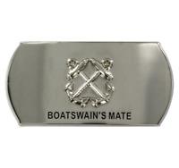 GENUINE U.S. NAVY ENLISTED SPECIALTY BELT BUCKLE: BOATSWAIN'S MATE: BM