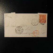 GRANDE BRETAGNE GB N°32 4d RED PLANE 9 LETTRE COVER 1967 LONDON TO DUNKERQUE