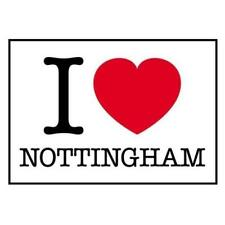 I Love Nottingham Post Card 10 x 15 cm Heart Collectable City Holiday