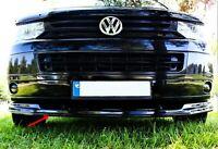 VW T5 MULTIVAN 2010-14 Front Ansatz Frontsplitter Lippe Kunststoff (Schwarz)
