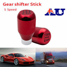 Universal Aluminum 5 Speed Manual Shift JDM Knob Gear Shifter Stick Nob Red AU