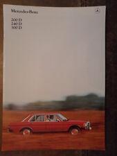 MERCEDES BENZ 200D 240D 300D orig 1981 UK Mkt Sales Brochure - W123