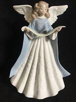 "LLadro #5719 Navidad Music Angel 7"" ANGEL Figure Tree Topper W/ Box Retired"