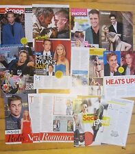 Robert Pattison, Lot of NINE Full and Two Page Clippings