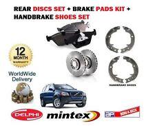 FOR Volvo XC90 2002-->ON REAR BRAKE DISCS SET & DISC PADS & HAND BRAKE SHOE KIT