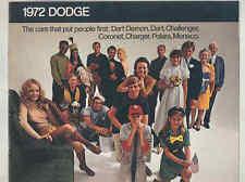 1972 Dodge Dart Demon Dart Challenger Coronet Charger Polara Mon Brochure mx9052