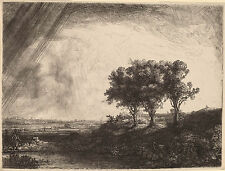 Rembrandt Etching Reproductions: The Three Trees: Fine Art Print