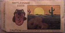 Rattlesnake Eggs a joke wound up in the envelope when opened Rattlesnake sounds