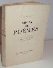 Choix de Poèmes de Paul Verlaine. Par Pierre Mac Orlan - arc-en-ciel, 1943