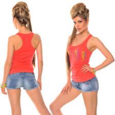 Maglie e camicie da donna lunghezza lunghezza ai fianchi senza colletto Taglia 38