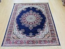 Machin Washable NAVY & RED  Traditional  Oriental design RUG NOW 25% OF