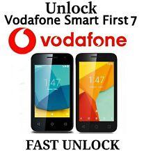 UNLOCKING CODE Vodafone SMART First 7 VFD 200 V200 VFD200 UK Ireland Portugal