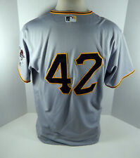 2017 Pittsburgh Pirates Jason Rogers #42 Game Issued Grey Jersey Jackie Robinson