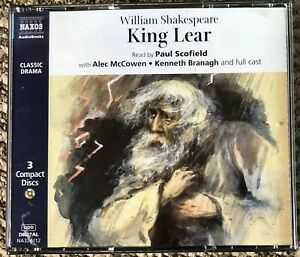 AUDIO BOOK William Shakespeare KING LEAR on 3 CDs read by Paul Schofield etc