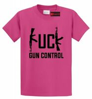 F--- Gun Control Funny T Shirt Gun Rights 2nd Amendment AK47 Hunting Tee