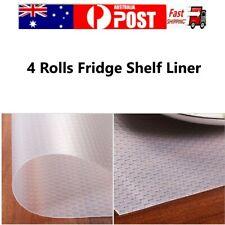 4 Rolls Fridge Shelf Liner Non-Slip Adhesive EVA Cupboard Cabinet Pad Drawer Mat