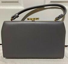 Vintage Gray Purse Handbag 1960's Antique Shoulder Hand Bag Women Pocketbook