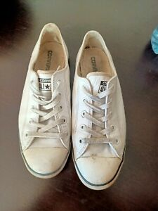 Converse leather white size 9