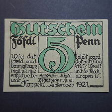 A  seltener : Top Notgeld : 50 Pfennig KAPPELN, Föfdi Penn   kfr/unc -selten