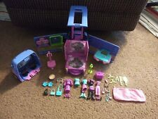 Mattel 2004 Polly Pocket Music Club Groove Party Par-tay Bus with accessories