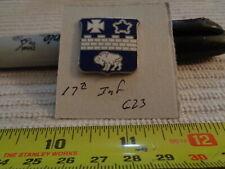 17th Infantry G23 Unit Crest, DI, DUI (DRAW#R3)