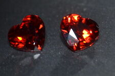 VVS 5mm Approx. 0.55cts Each Natural Untreated Red Heart African Garnet Gemstone