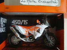 MINIATURE MOTO KTM 450  2015 PARIS DAKAR 1/12  NEUVE EN BOITE 6074-02