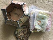 vintage handkerchiefs hankies hanky  Card Box  AS IS
