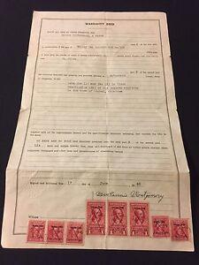 1946 Okla. Warranty Deed With 8 Internal Revenue Documentary REDS Stamps