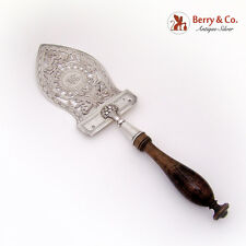 French Large Fish Server Sunflower Openwork 950 Silver Paris 1819 - 1838