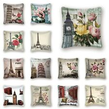 Vintage Floral Pillow Case Square Waist Throw Cushion Cover Home Sofa Car Decor