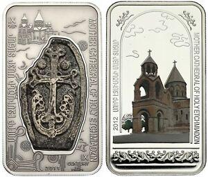 Armenia 2 x 1000 Drams Armenian Monasteries And Churches Silver Coin Set