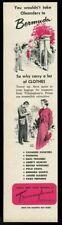1952 Trimmingham's Bermuda store vintage fashion print ad