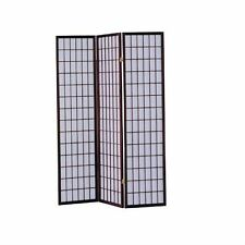 3 Panel Cherry Wood Finish Asian Style Furniture All Rooms Screen Room Divider