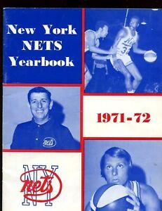 1971/1972 ABA Basketball New York Nets Yearbook EX