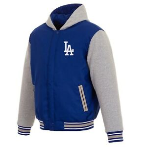 MLB Los Angeles Dodgers  JH Design Two Tone Reversible Fleece Hooded Jacket