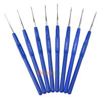 8x Portable Small Crochet Hooks Needles Stitches Knitting Craft Case Crochet Set