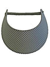 PICKLEBALL MARKETPLACE -Fabric Foam Sun Visor For Women -Black & White Polka Dot