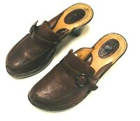 BOC Born Clog  Slip On Brown Womens  Shoes Mules Leather size 10 US fast ship