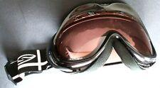 "Smith Optics black Anthem snow goggles women's/teen 6"" ski snowboard tinted lens"